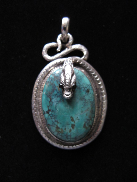 Tibetan Pendants on Tibetan Tribal Jewelry   Large Handcrafted Serpent Pendant In Sterling