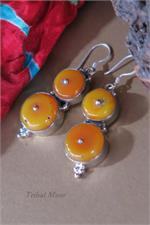 Beeswax amber earrings